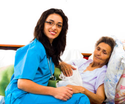 nurse with elderly